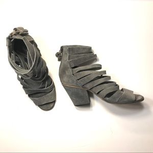Cayman Free People Strappy Booties Gray